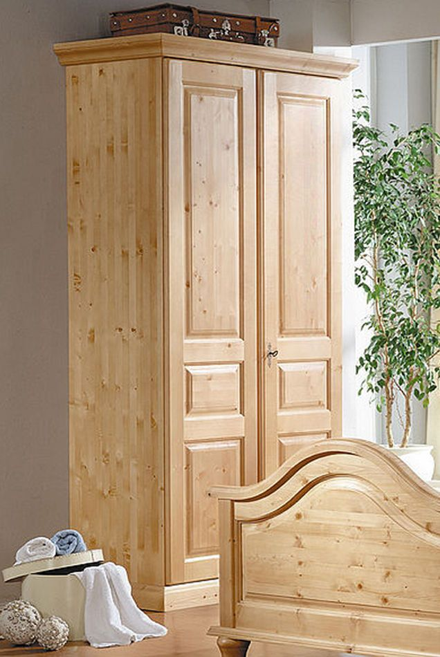 Kleiderschrank 2-türig Fichte massiv Landhausstil