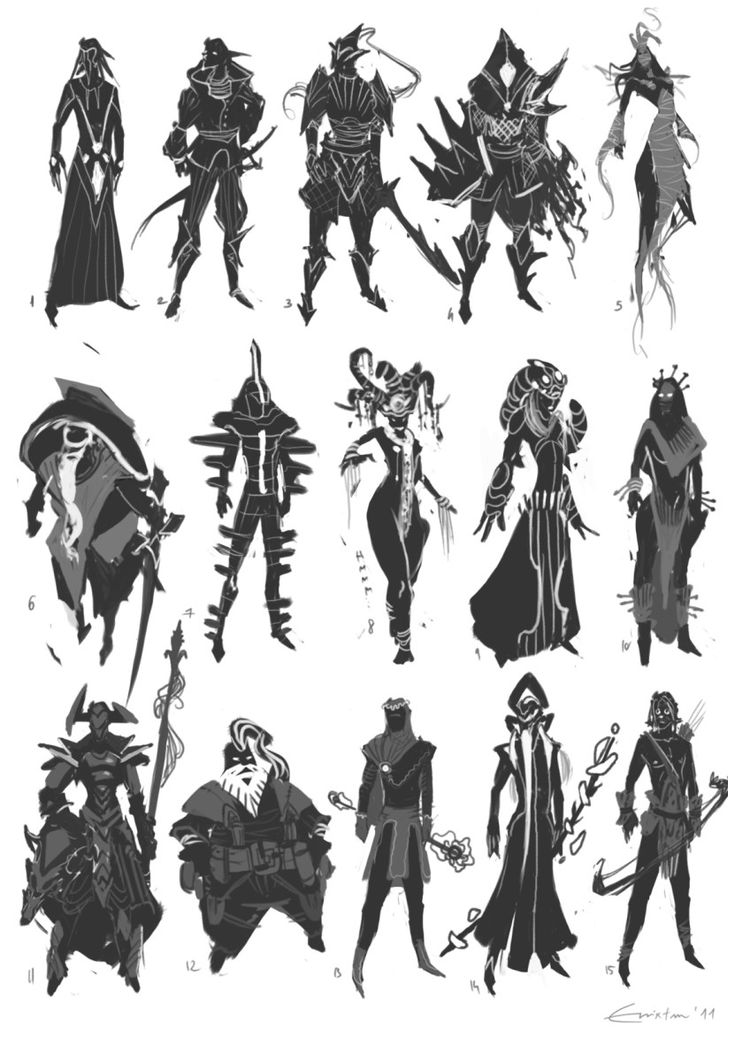Character Design D D : Best images about character silhouette on pinterest