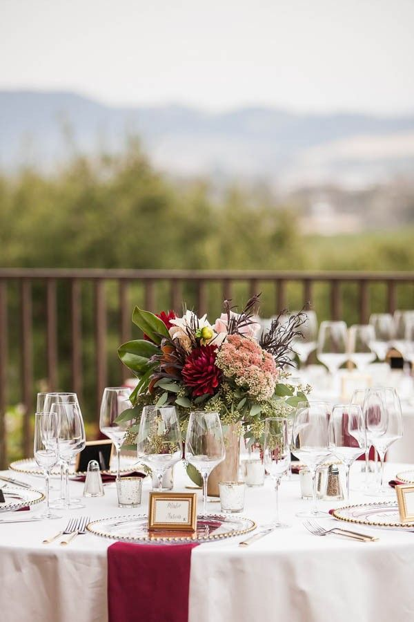 17 best ideas about burgundy floral centerpieces on pinterest fall floral arrangements fall - Burgundy and white wedding decorations ...