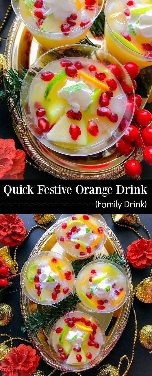 Quick Festive Orange Drink : #MinuteMaidHoliday #CollectiveBias #ad #brunch #drink