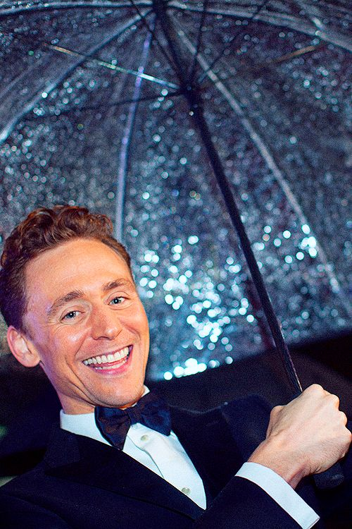 Tom Hiddleston   I love the happiness in his face!