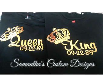 King and Queen shirts matching couple shirts shirts for