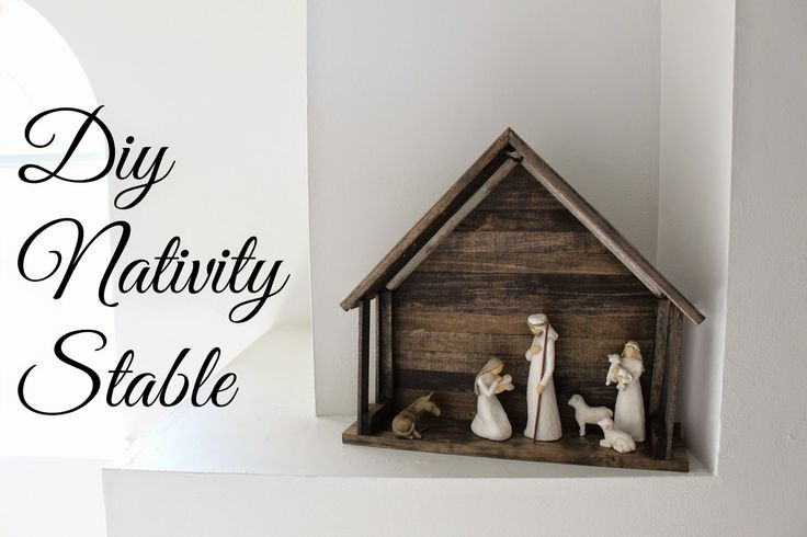 I've had my Willow Tree Nativity for a few years now. Each year I consider buying the Willow Tree Crechebut I can't bring myself to spend $100+ on it. I like it but I don't love it because that's not how I envision the stable of the Holy family. I see it as an imperfect barn-like structure. Hobby Lobby had a few that I liked