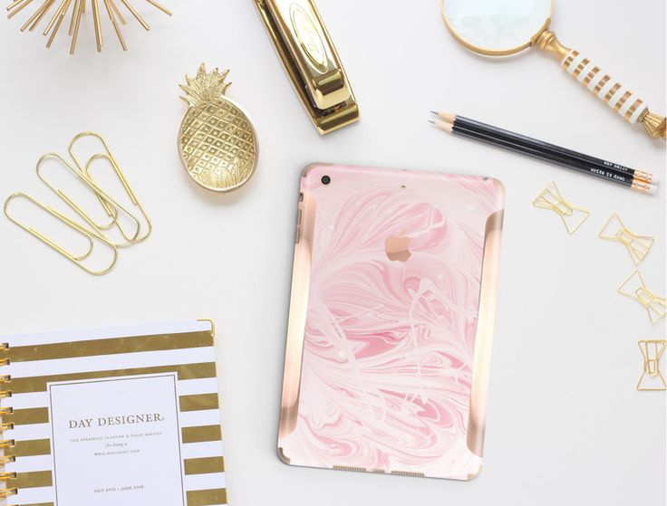 Platinum Edition Pink Marble Swirl with Rose Gold/Copper Detailing Vinyl Skin for the iPad Air 2, iPad mini 4 , iPad Pro by Cliqueshops on Etsy https://www.etsy.com/listing/259756310/platinum-edition-pink-marble-swirl-with