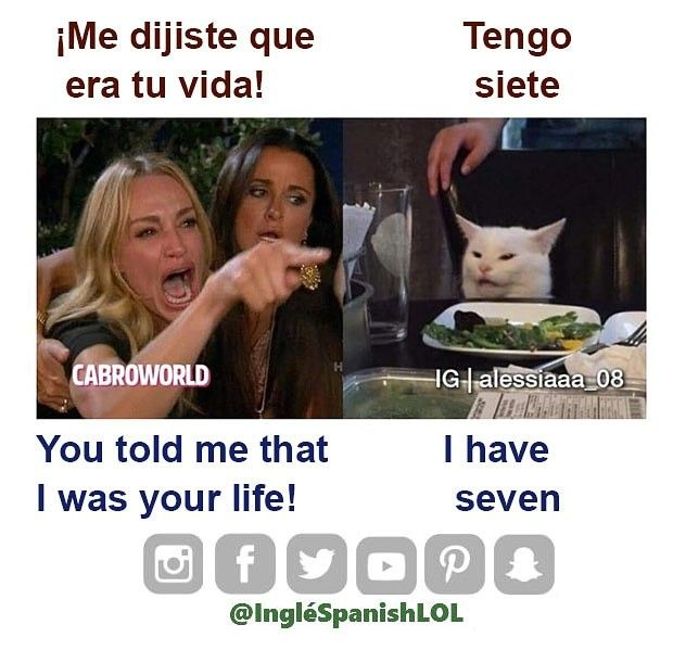 Me Dijiste Que Era Tu Via How To Speak Spanish English Memes Spanish English