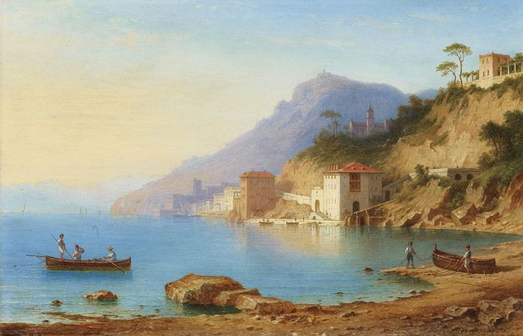 File:Carl Morgenstern - Blick auf die Küste von Amalfi (1867).jpg