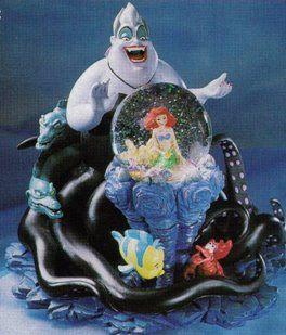 Disney Ursula Little Mermaid Flounder Sebastian Flotsam Jetsam Snowglobe