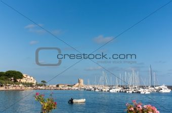 Stock photo available for sale at Crestock: Little Port Of Marciana Marina On Elba Island