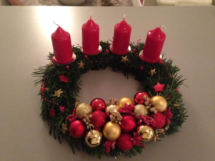 #Vanoce #vanocni dekorace #advent #adventni venec