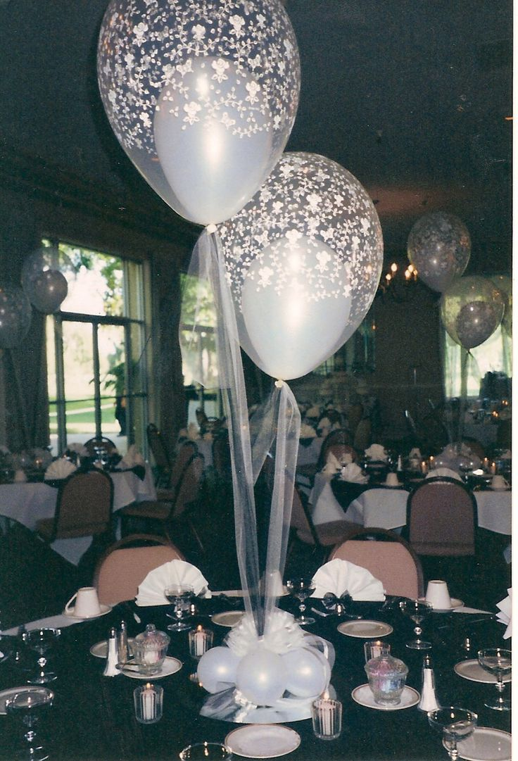 25 best ideas about balloon centerpieces wedding on
