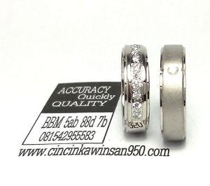 Cincin couple platina Kawin Pasangan R 2401