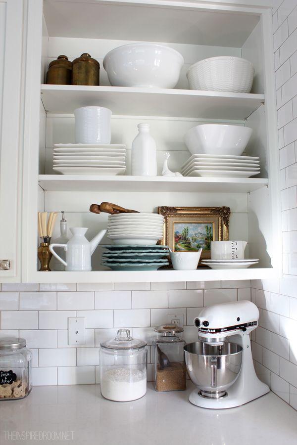 29 best Kitchen Open Shelving Ideas images on Pinterest Open