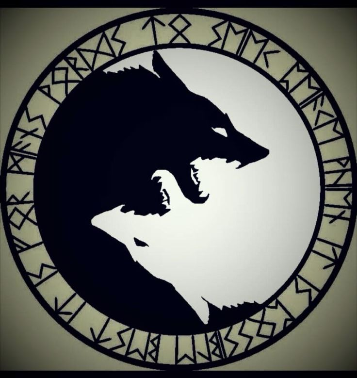 Geri and Freki, Odin's wolfs. When he feasts with the slain warriors (selected by the Valkyries.- the Einherjar) in Valhalla, he only indulges in the divine Mead, from the udders of the goat Heidrun. All other food offered to him he feeds to his wolves.