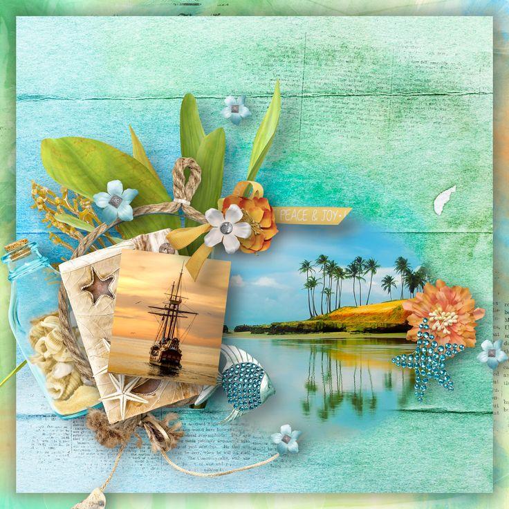 """Seaside Treasures"" by BooLand Designs, https://www.digitalscrapbookingstudio.com/digital-art/bundled-deals/seaside-treasures-bundle/, photo Pixabay"