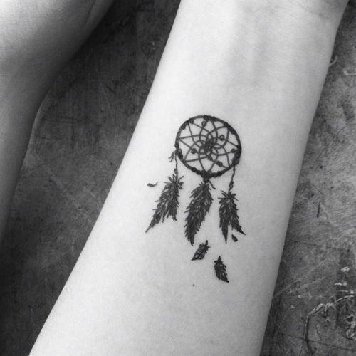 dream catcher tattoo small - Google Search