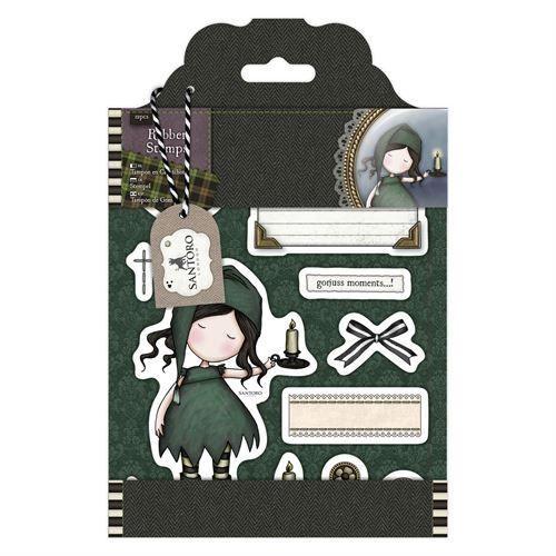 Gorjuss Santoro Tweed - Nightflight rubber stamp