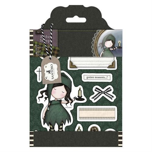Gorjuss Santoro Tweed - Nightflight rubber stamp