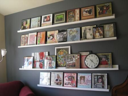 Gallery Shelves: Wall of Awesome | Do It Yourself Home Projects from Ana White