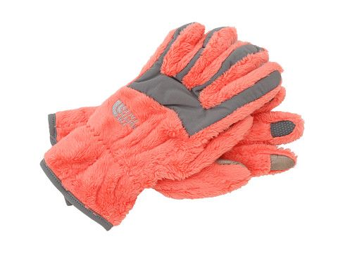 Fuzzy North Face Gloves