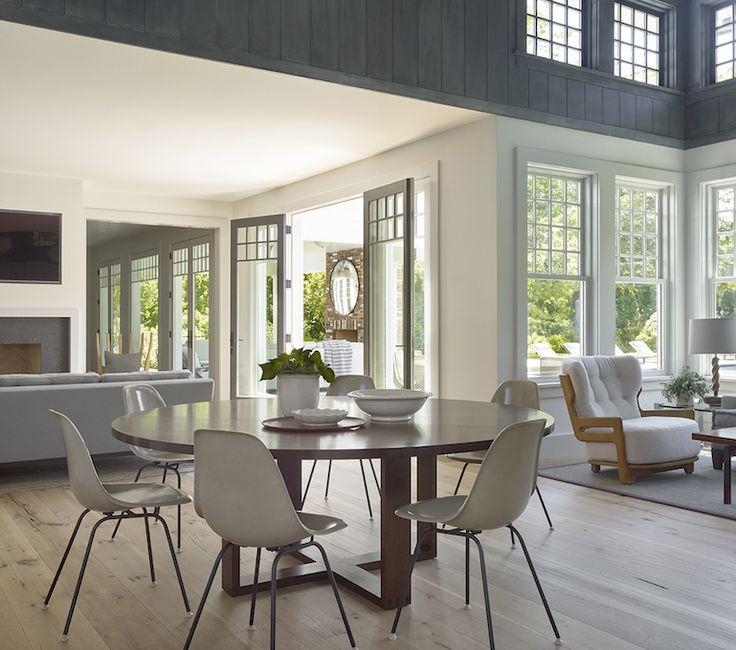 East Hampton Informal Dining Area And Living Space Breakfast Room MidCenturyModern Transitional By Dan Scotti Design