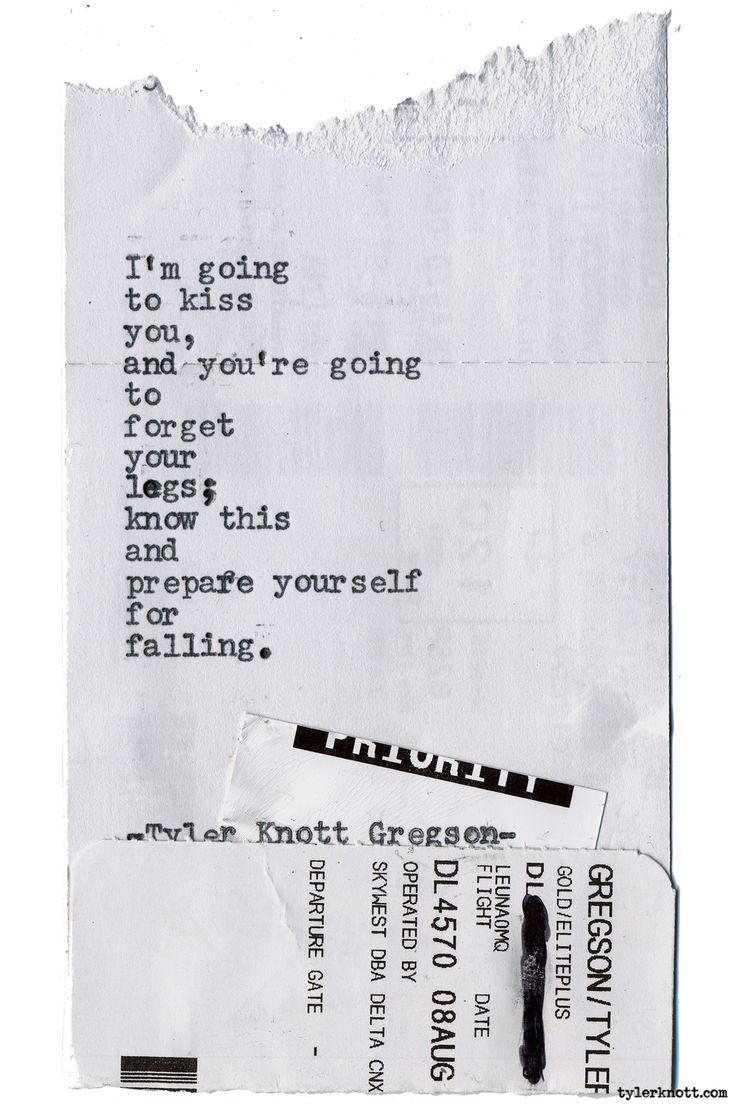Typewriter Series #1601 by Tyler Knott Gregson Chasers of the Light & All The Words Are Yours are Out Now!