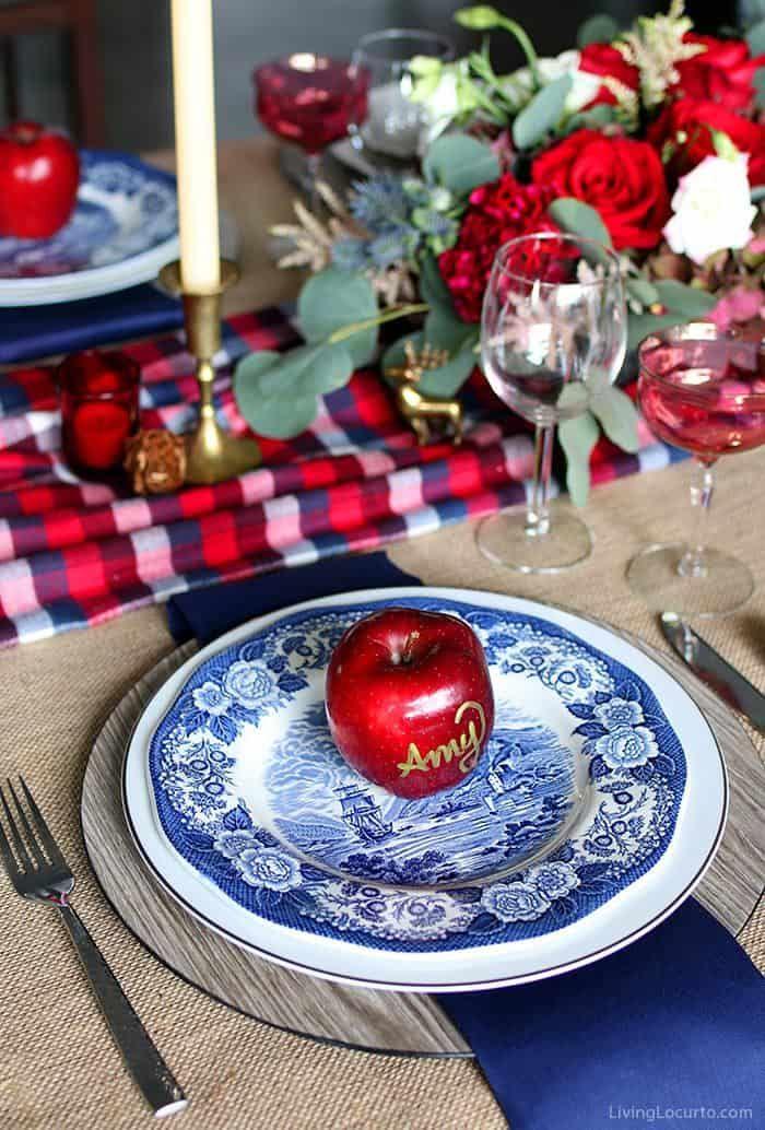 Plaid Christmas Table Decorations Christmas Table Settings Table Decorations Christmas Table Settings Elegant