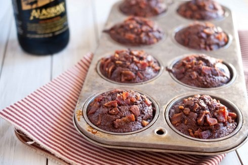 chocolate beer bacon cupcakes!!