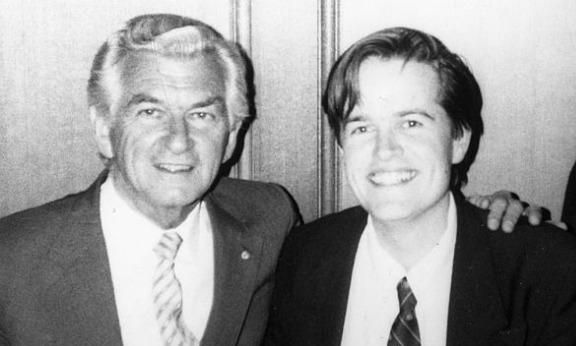 Theory & History Bill Shorten with former prime minister Bob Hawke in……