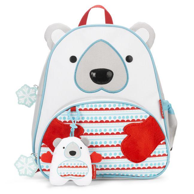 Dzieci kochają zimową porę. Kochają tez misie. :) Skip Hop w nowej zimowej kolekcji Winter Zoo przedstawiam nam same słodkości!! Plecak z misiem polarnym z zawieszką juz jest w drodze do nas :)