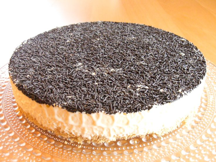 Osteiskake med vanilje og sjokolade