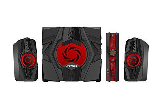 AVerMedia Ballista Unity Gaming Speakers 2.1 Audio Sound System Speakers 40 Watts (GS310)