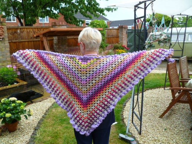 167 best crochet shawls images on Pinterest | Crochet shawl, Ponchos ...