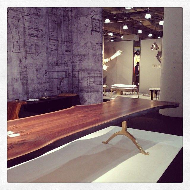 Black walnut table by Brooklyn's Sentient.: Urban Wood, Rustic Furniture, Brooklyn Sentient, Icff 2014, Black Walnut, Walnut Tables