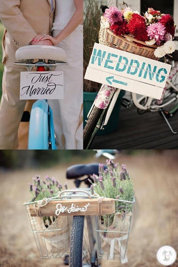 Bicicleta com parte da decoração  Bike  Wedding  Flowers