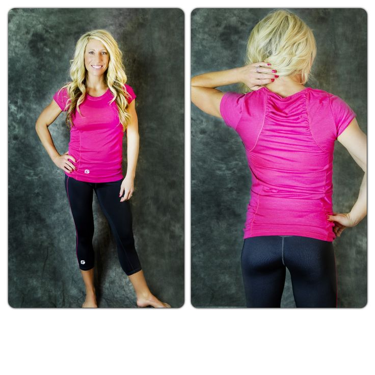 Nothing screams summer like HOT PINK! Our Get Slim Tees are only $16.99   They come in purple, hot pink, and green.    Get them here: http://getfitwear.com/product/get-slim-tee/