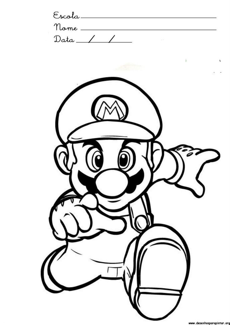 28 Best Coloring Super Mario Images On Pinterest