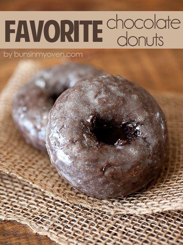 Glazed Chocolate Cake Donuts - my favorite recipe!