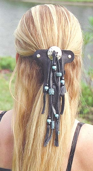 Leather Turquoise Beaded Hair Wrap $11.99 at Jamin Leather http://www.jaminleather.com/4-Inch-Turq-Beaded-Head-Wrap-P161.aspx#