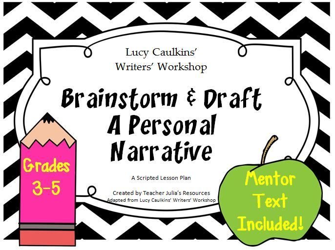 Brainstorm And Draft Writing Workshop With Images Teacher