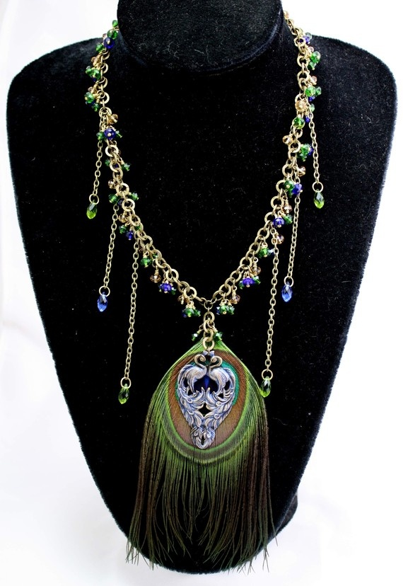 The Peacock Queen necklace in Neo Victorian style by KerensJewelry, $95.00: Neovictorian Style