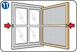 Fabriquer une moustiquaire pour porte/fenêtre - Fermeture