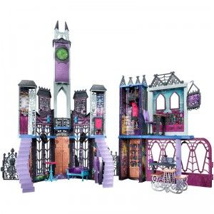 The Monster High Deadluxe High School from Mattel is an extra large multi-storied Monster High-scaled doll house .