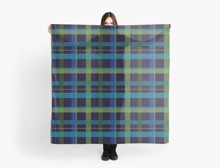 Dark Blue & Green  Scarf by scardesign11 #scarf #plaidscarf #gifts #plaidgifts #womensgifts #scarves #buygifts #giftsforher #buyscarves #fashion #womensfashion #redbubble