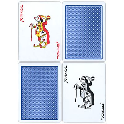 Fournier Plastic Playing Cards - Regular Pips (blue) - Trick