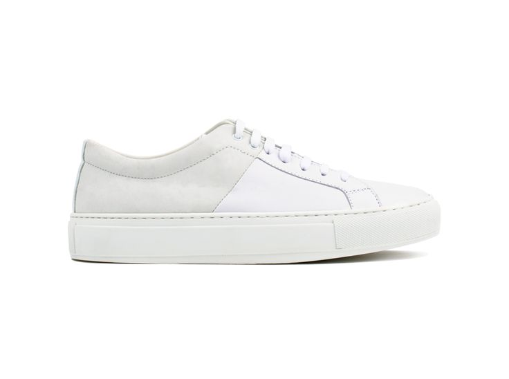 Blucher 01 Nubuck/Leather White