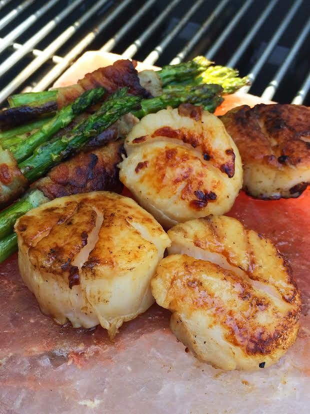 Give seared scallops on a Himalayan salt block a try! Infuse salt into your grilled foods such as steaks, chicken and more!