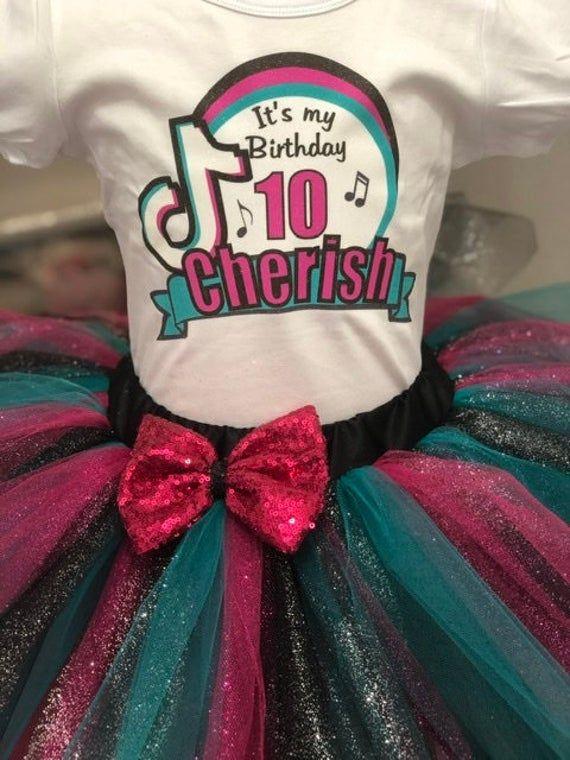 Tik Tok Birthday Tutu Outfit Tik Tok Party Dress Tik Tok Etsy Birthday Tutu Outfit Tutu Outfits Birthday Tutu