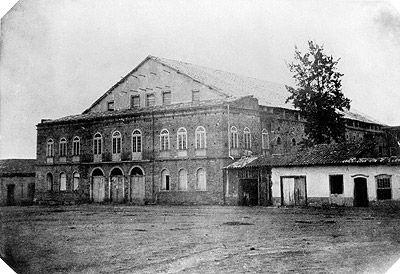 Militão Augusto de Azevedo, Teatro São José, Praça João Mendes,ca. 1860. Arquivo da Cúria Metropolitana da Arquidiocese de São Paulo (SP)