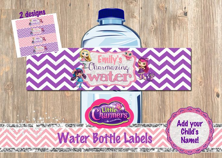 Little Charmers Water Bottle Labels - Little Charmers' Party Decor - Decorations - Invitation - Nick - Show - Jr. - Lavender - Posie - Hazel by 4MustardSeeds on Etsy
