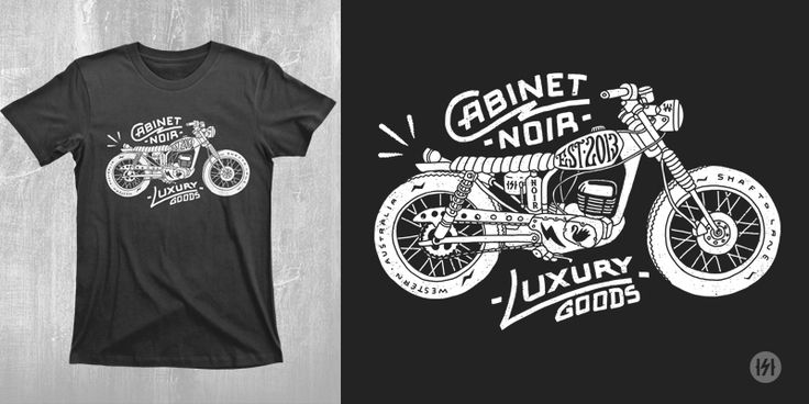 """Cabinet Noir - Bike"" t-shirt design by Highscore"
